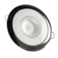 Lumitec Mirage - Flush Mount Down Light - Glass Finish\/Polished SS Bezel - 3-Color Red\/Blue Non Dimming w\/White Dimming