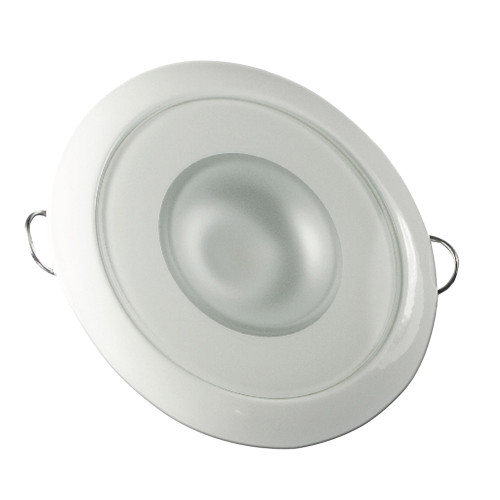 Lumitec Mirage - Flush Mount Down Light - Glass Finish\/White Bezel - 4-Color White\/Red\/Blue\/Purple Non Dimming