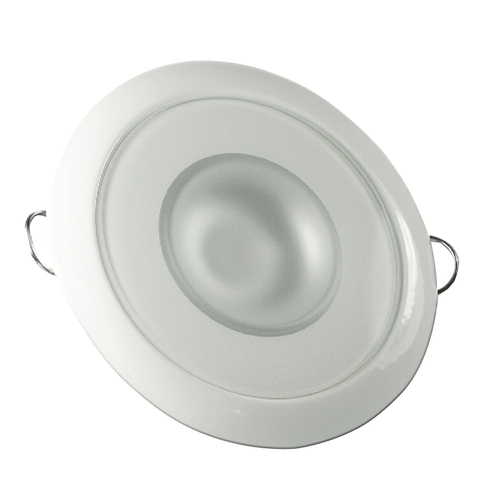 Lumitec Mirage - Flush Mount Down Light - Glass Finish\/White Bezel - 2-Color White\/Red Dimming