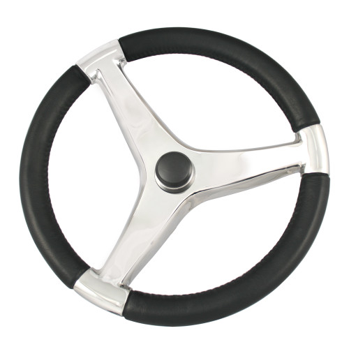 "Ongaro Evo Pro 316 Cast Stainless Steel Steering Wheel - 13.5""Diameter"