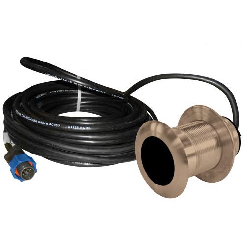 Lowrance B117 0 Degree 50\/200kHz Thru-Hull Depth\/Temp w\/Blue Connector - 600W