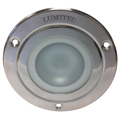 Lumitec Shadow - Flush Mount Down Light - Polished SS Finish - Warm White Dimming