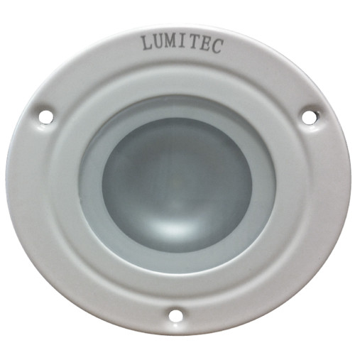 Lumitec Shadow - Flush Mount Down Light - White Finish - 4-Color White\/Red\/Blue\/Purple Non Dimming