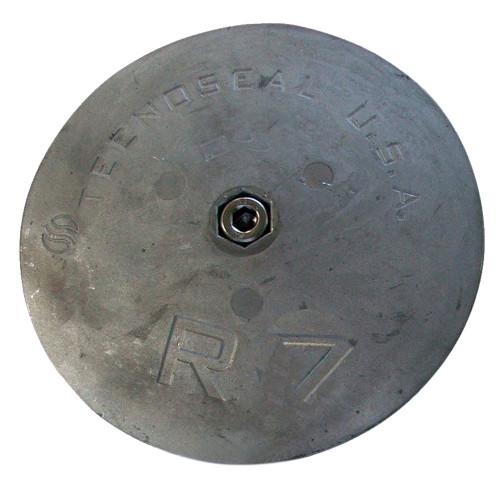 """Tecnoseal R7 Rudder Anode - Zinc - 6-1\/2"""" Diameter"""