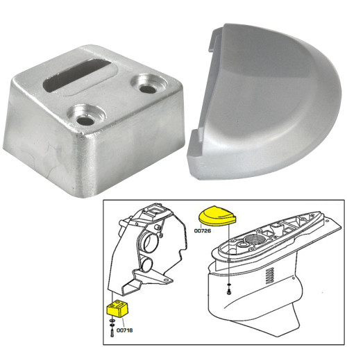 Tecnoseal Anode Kit w\/Hardware - Volvo SX - Magnesium