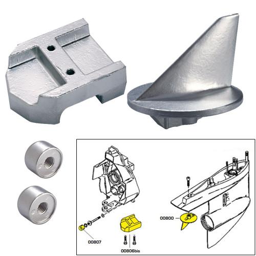 Tecnoseal Anode Kit w\/Hardware - Mercury Alpha 1 Gen 1 - Zinc