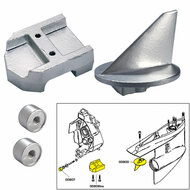 Tecnoseal Anode Kit w\/Hardware - Mercury Alpha 1 Gen 1 - Aluminum