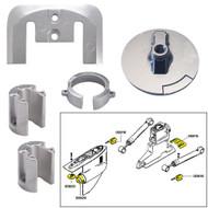 Tecnoseal Anode Kit w\/Hardware - Mercury Bravo 1 - Zinc