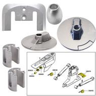 Tecnoseal Anode Kit w\/Hardware - Mercury Bravo 3 2004 - Aluminum