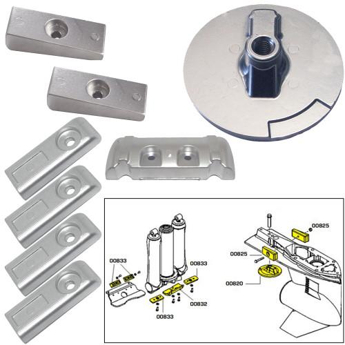 Tecnoseal Anode Kit w\/Hardware - Mercury Verado 6 - Aluminum