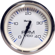 "Faria Chesapeake White SS 4"" Tachometer - 4,000 RPM (Diesel - Magnetic Pick-Up)"