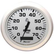 "Faria Dress White 4"" Tachometer w\/Hourmeter - 7,000 RPM (Gas - Outboard)"