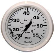 "Faria Dress White 4"" Speedometer - 55MPH (Mechanical)"