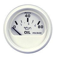 "Faria Dress White 2"" Oil Pressure Gauge - 80 PSI"