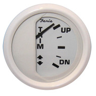 "Faria Dress White 2"" Trim Gauge (J\/E\/Suzuki Outboard)"
