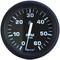 "Faria Euro Black 4"" Tachometer - 6,000 RPM (Gas - Inboard & I\/O)"