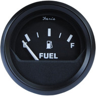 "Faria Euro Black 2"" Fuel Level Gauge (E-1\/2-F)"