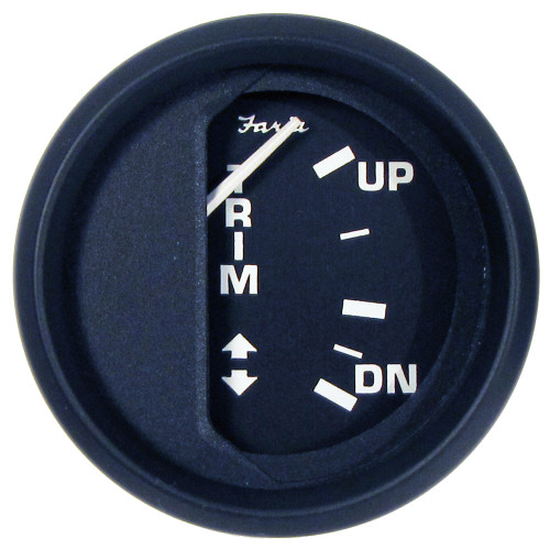 "Faria Euro Black 2"" Trim Gauge (Mercury \/ Mariner \/ Mercruiser \/ Volvo DP \/ Yamaha-2001 and newer)"