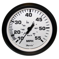 "Faria Euro White 4"" Speedometer - 55MPH (Mechanical)"