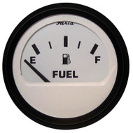 "Faria Euro White 2"" Fuel Level Gauge (E-1\/2-F)"