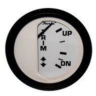 "Faria Euro White 2"" Trim Gauge (Mercury \/ Mariner \/ Mercruiser \/ Volvo DP \/ Yamaha-2001 and newer)"