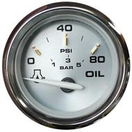 "Faria Kronos 2"" Oil Pressure Gauge - 80 PSI"