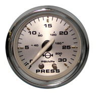 "Faria Kronos 2"" Water Pressure Gauge Kit - 30 PSI"
