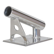"Lee's MX Pro Series Fixed Angle Center Rigger Holder - 22 Degree - 1.5"" ID - Bright Silver"