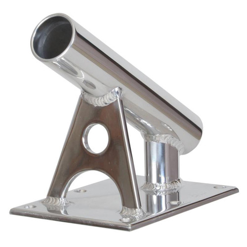 "Lee's MX Pro Series Fixed Angle Center Rigger Holder - 30 Degree - 1.5"" ID - Bright Silver"