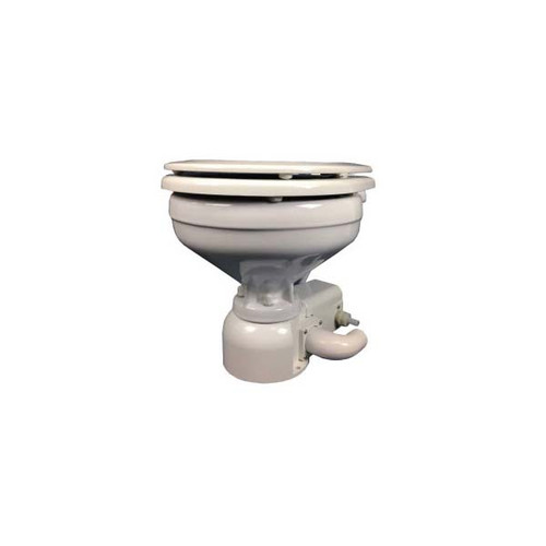 Raritan Sea Era Marine Size Toilet - Press - Fresh Water - 0 & 90 Discharge - Smart Switch - 12V - White
