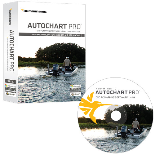 Humminbird AutoChart PRO DVD PC Mapping Software w\/Zero Lines Map Card