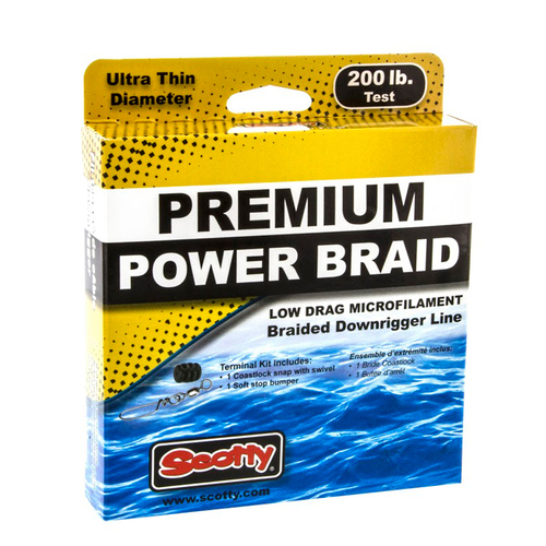 Scotty Premium Power Braid Downrigger Line - 400ft of 200lb Test