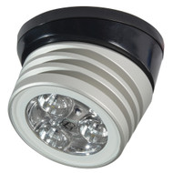 Lumitec Zephyr LED Spreader\/Deck Light -Brushed, Black Base - White Non-Dimming