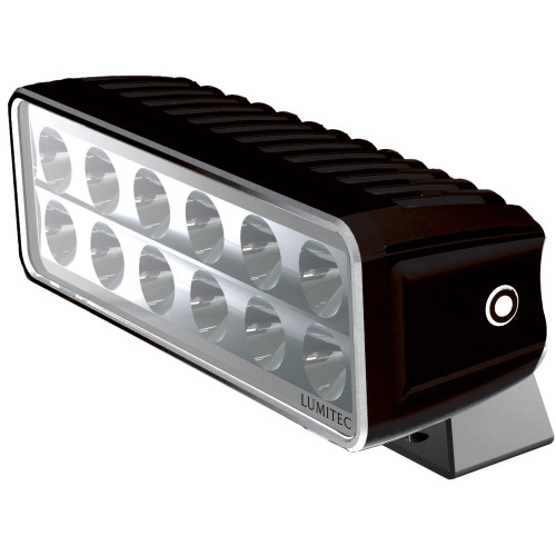 Lumitec Maxillumeh60 - Trunnion Mount Flood Light - Black Housing - White Dimming