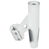 "Lee's Clamp-On Rod Holder - White Aluminum - Vertical Mount - Fits 1.660"" O.D. Pipe"