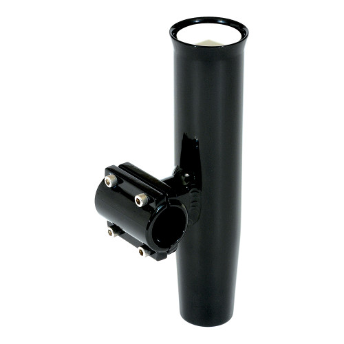 """Lee's Clamp-On Rod Holder - Black Aluminum - Horizontal Mount - Fits 1.050"""" O.D. Pipe"""