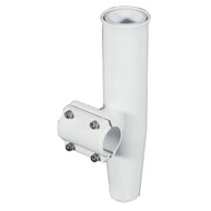 "Lee's Clamp-On Rod Holder - White Aluminum - Horizontal Mount - Fits 1.315"" O.D. Pipe"