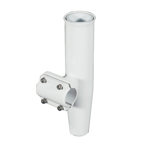 "Lee's Clamp-On Rod Holder - White Aluminum - Horizontal Mount - Fits 1.900"" O.D. Pipe"