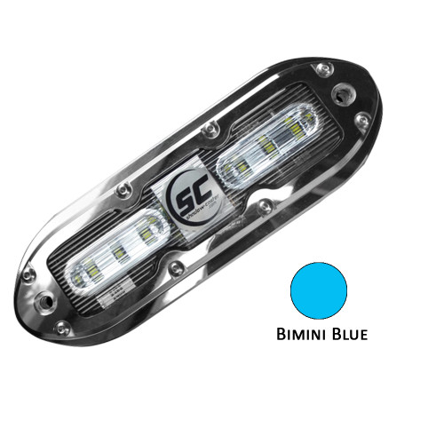 Shadow-Caster SCM-6 LED Underwater Light w\/20' Cable - 316 SS Housing - Bimini Blue
