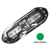 Shadow-Caster SCM-6 LED Underwater Light w\/20' Cable - 316 SS Housing - Aqua Green