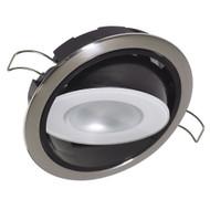 Lumitec Mirage Positionable Down Light - Warm White Dimming, Hi CRI - Polished Bezel