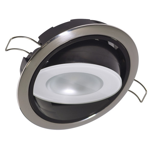 Lumitec Mirage Positionable Down Light - Warm White Dimming, Hi CRI - Polished Bezel