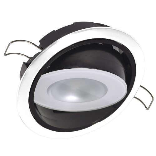 Lumitec Mirage Positionable Down Light - White Dimming, Red\/Blue Non-Dimming - White Bezel