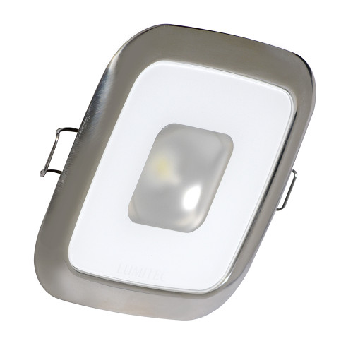Lumitec Square Mirage Down Light - White Dimming, Red\/Blue Non-Dimming - Polished Bezel