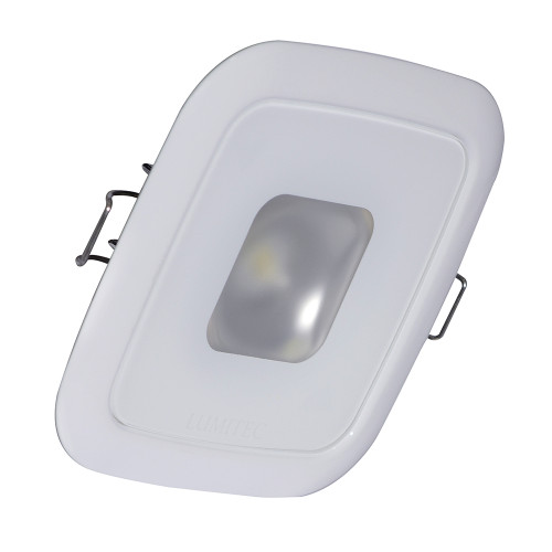 Lumitec Square Mirage Down Light - White Dimming, Red\/Blue Non-Dimming - White Bezel