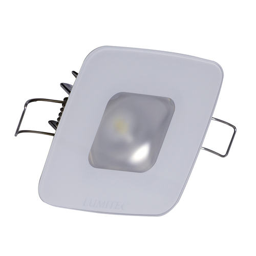 Lumitec Square Mirage Down Light - Spectrum RGBW Dimming - Glass Housing No Bezel