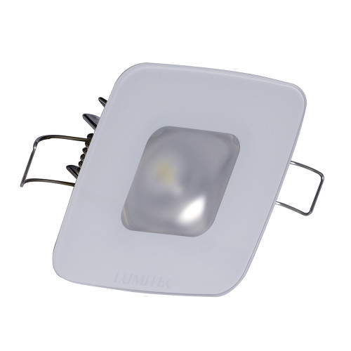 Lumitec Square Mirage Down Light - White Dimming, Red\/Blue Non-Dimming - Glass Housing No Bezel