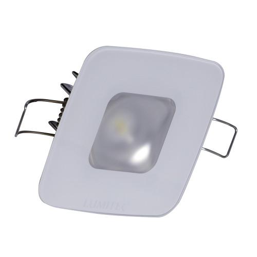 Lumitec Square Mirage Down Light - Warm White Dimming, Hi CRI - Glass Housing No Bezel