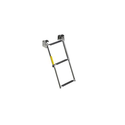 Garelick Telescoping 3-Step Transom Ladder