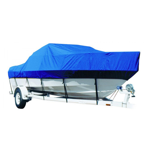 Lund 197 Pro-V w/Bimini Removed O/B Boat Cover - Sharkskin SD